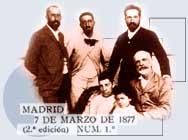 Ricardo Rubio, Manuel B. Cossío, Albert Giner, Tomasa Pantoja, José Giner Pantoja y Francisco Giner.