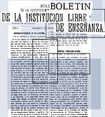 Cabecera del Boletín de la Institución Libre de Enseñanza (1877-1936)